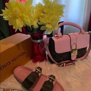 LV pink purse for sale